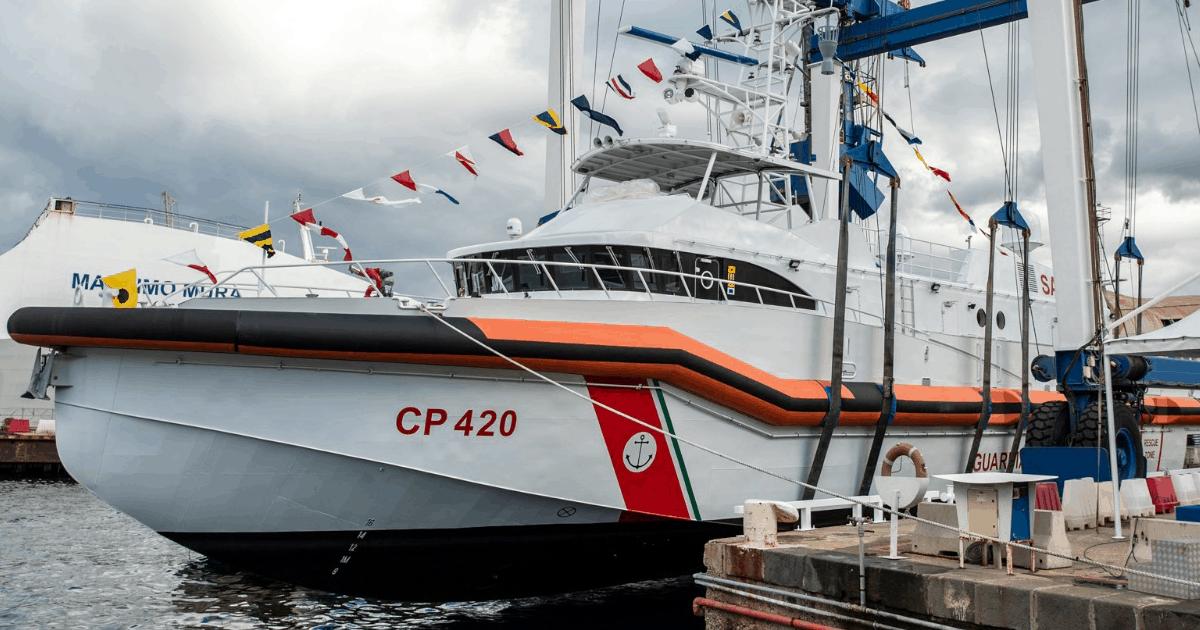 Патрульний катер Італії CP420 «Natale De Grazia» класу «Angels of the Sea». Грудень 2020. Фото: Intermarine