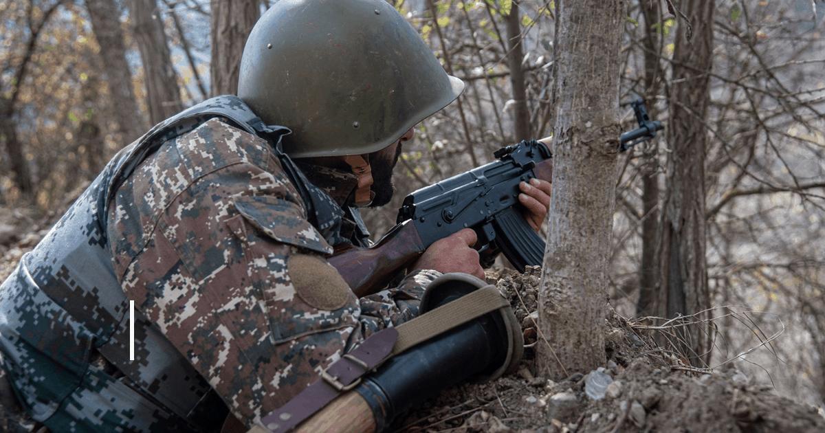 Боєць сил Вірменії в Нагірному Карабасі