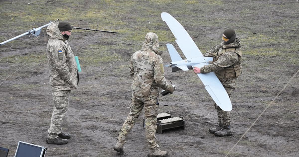 БпАК «Лелека-100» під час навчань 28 ОМБр. Грудень 2020. Фото: ЗСУ