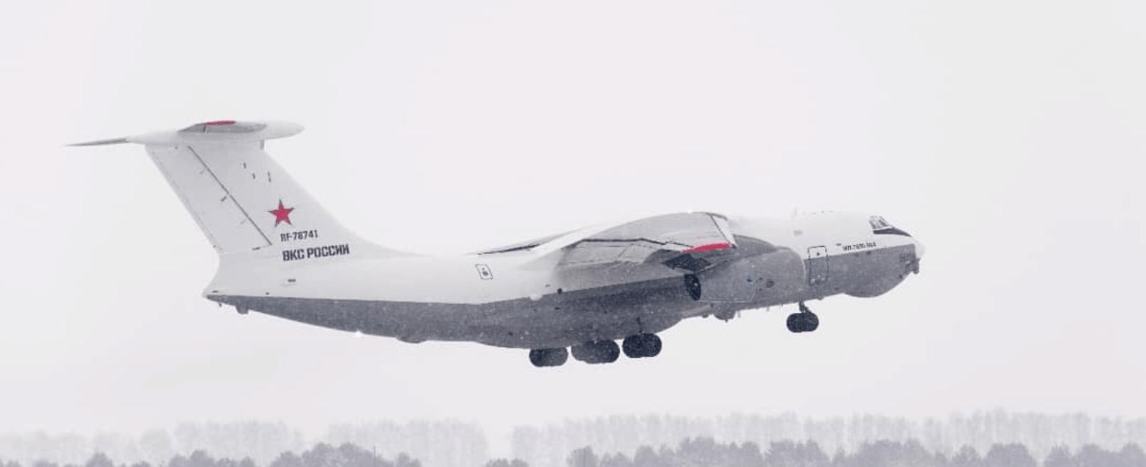 Перший дослідний зразок літака-заправника Іл-78м-90А (реєстраційний номер RF-78741). Фото: ЗМІ РФ