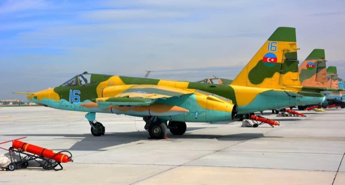 Штурмовики Су-25 Повітряних сил Азербайджану. Фото з відкритих джерел