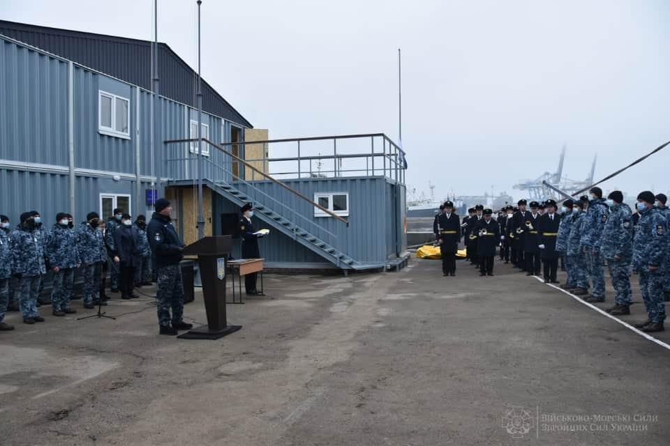 Урочиста церемонія з нагоди відкриття нової адміністративної будівлі для Водолазної школи ВМС ЗС України