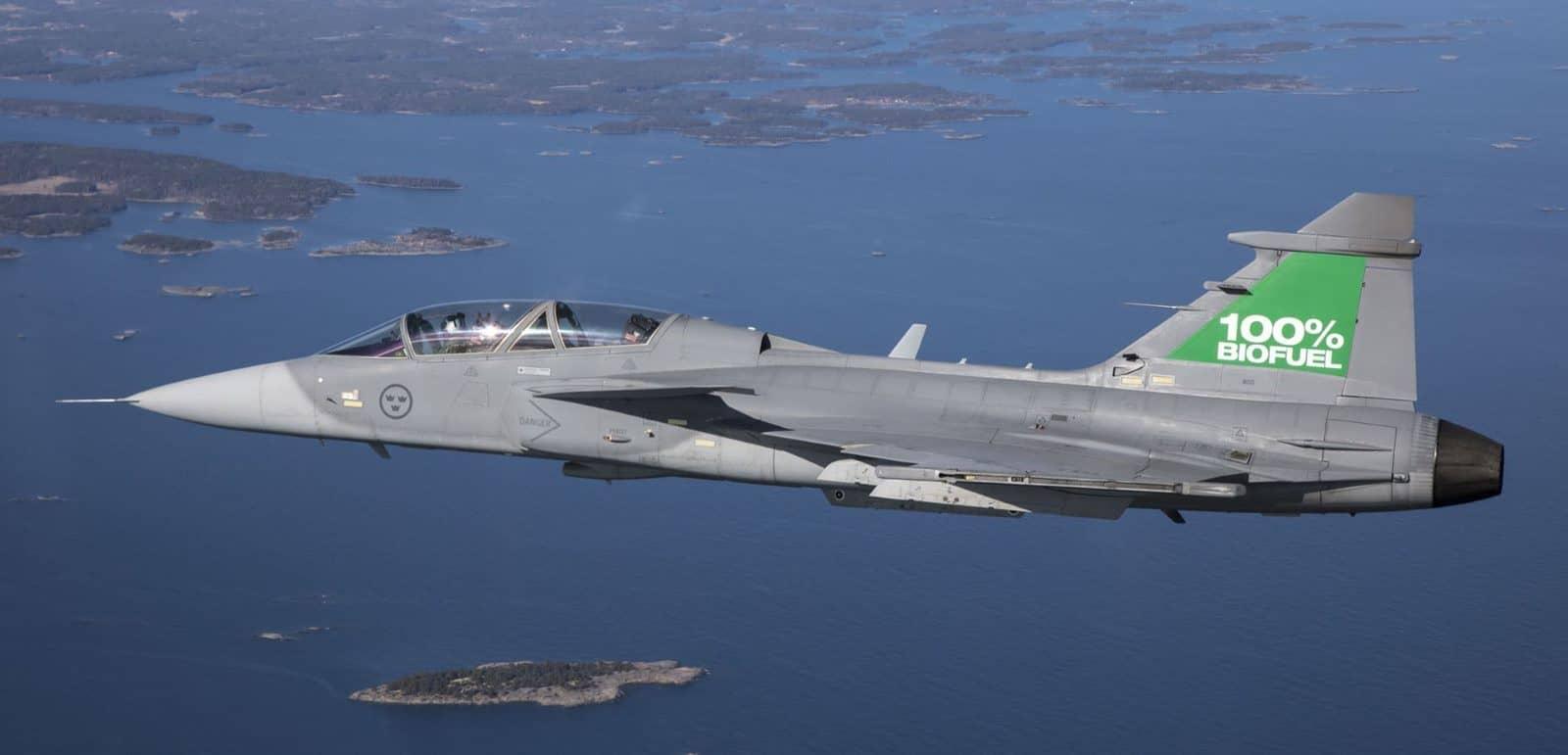 Випробування винищувача JAS-39 Gripen на біопалеві. 2017 рік. Фото з відкритих джерел