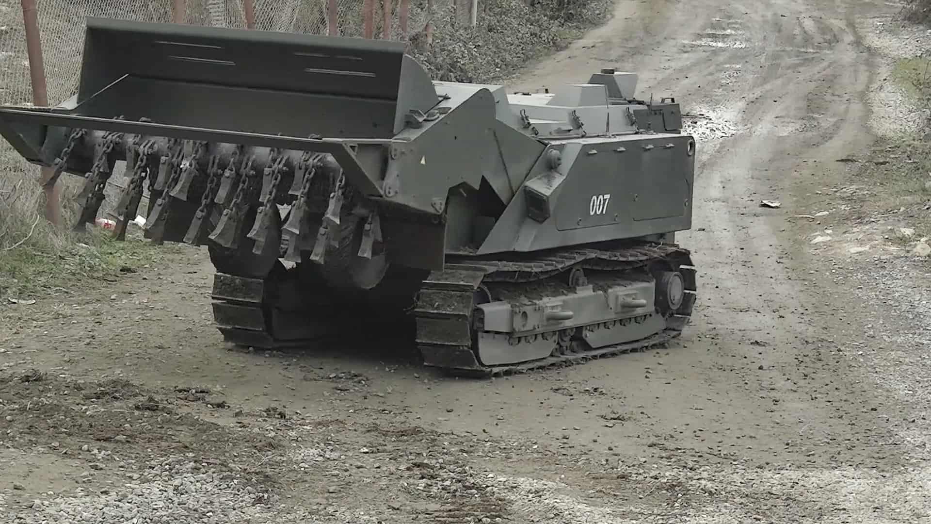 Машина розмінування «Уран-6». Грудень 2020. Нагірний Карабах. Фото: МО РФ