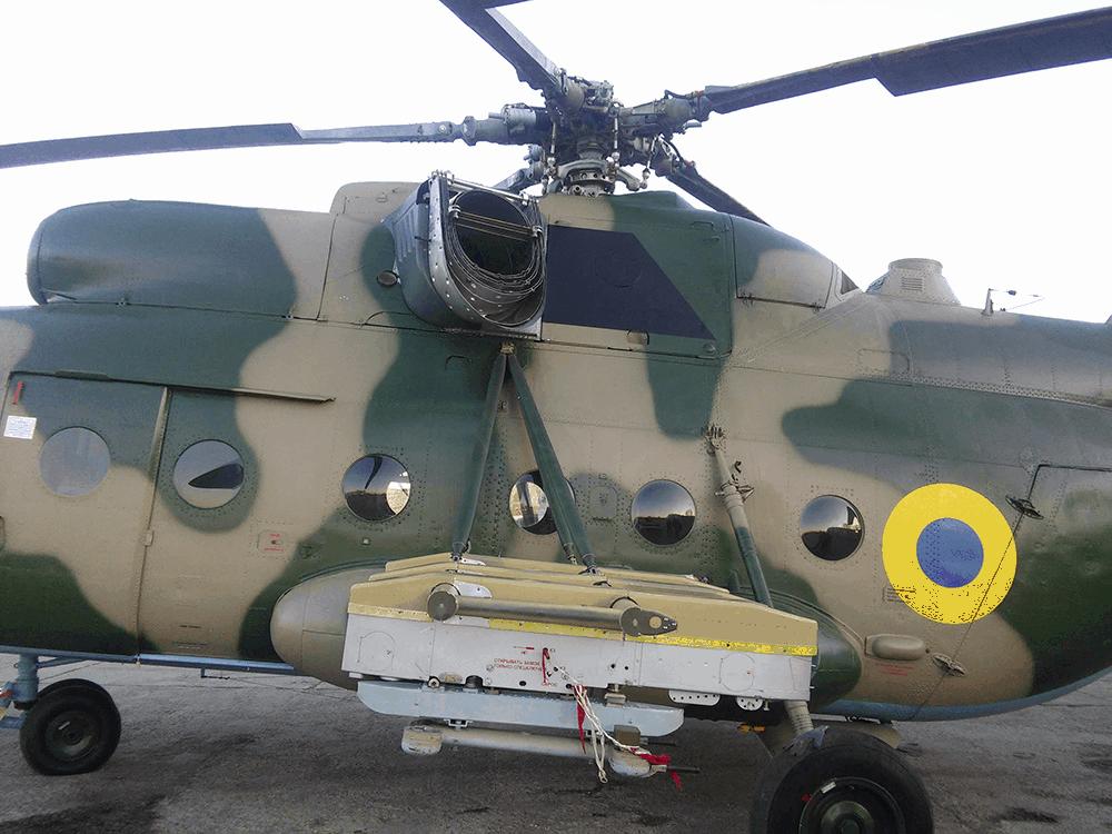 Багатоцільовий гелікоптер Мі-8 МСБ-В з екранно-вихлопними пристроями «АДРОС» АШ-01В