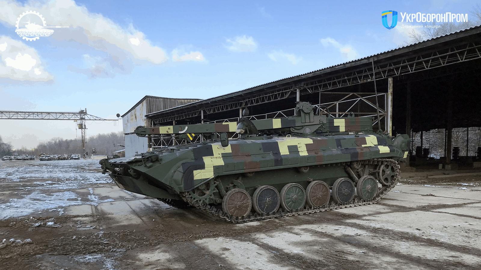 Відремонтована броньована ремонтно-евакуаційна машина БРЕМ-2