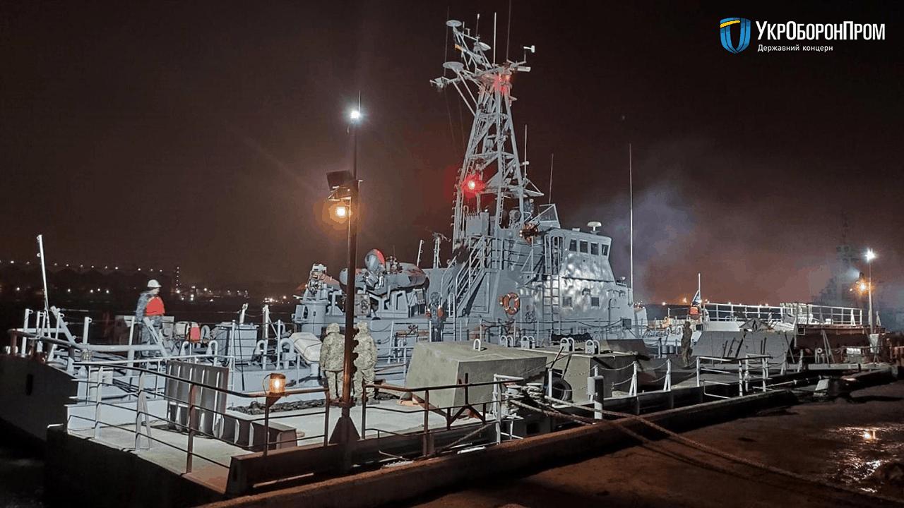 Плавучий причай ПЖ-61У у пункті базування ВМС ЗС України в порту «Південний»