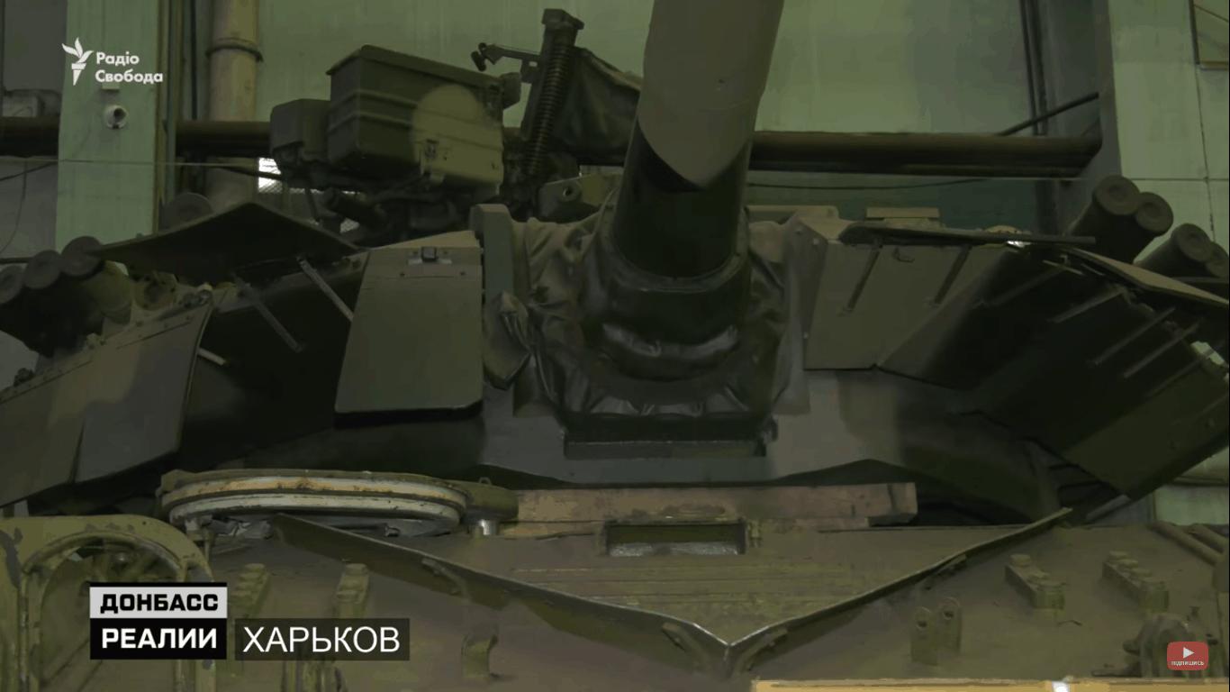 Корпус танку Т-64 в ході робіт по модернізації за дослідно-конструкторською роботою «Краб»