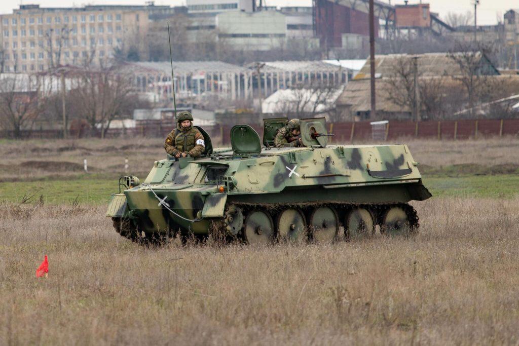 Гусеничний легкоброньований бронетранспортер ГТ-МУ сил так званої «ПМР». Січень 2021. Фото: «МО ПМР»