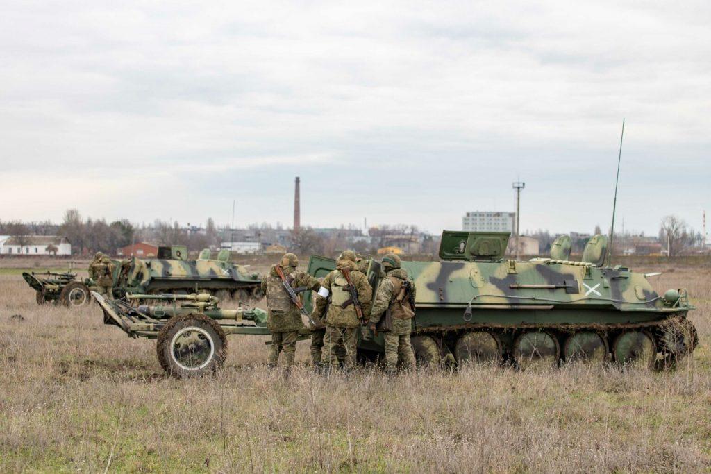 Гусеничний легкоброньований бронетранспортер ГТ-МУ з мінометами 120-мм сил так званої «ПМР». Січень 2021. Фото: «МО ПМР»