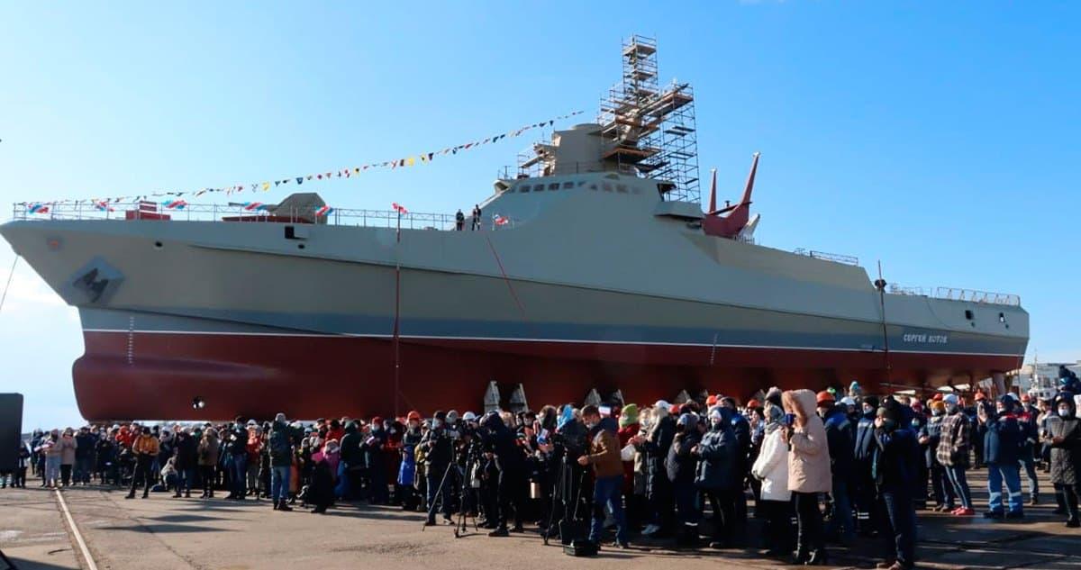 Патрульний корабель проєкту 22160 «Сергей Котов» у Криму. Січень 2021. Фото: ЗМІ РФ