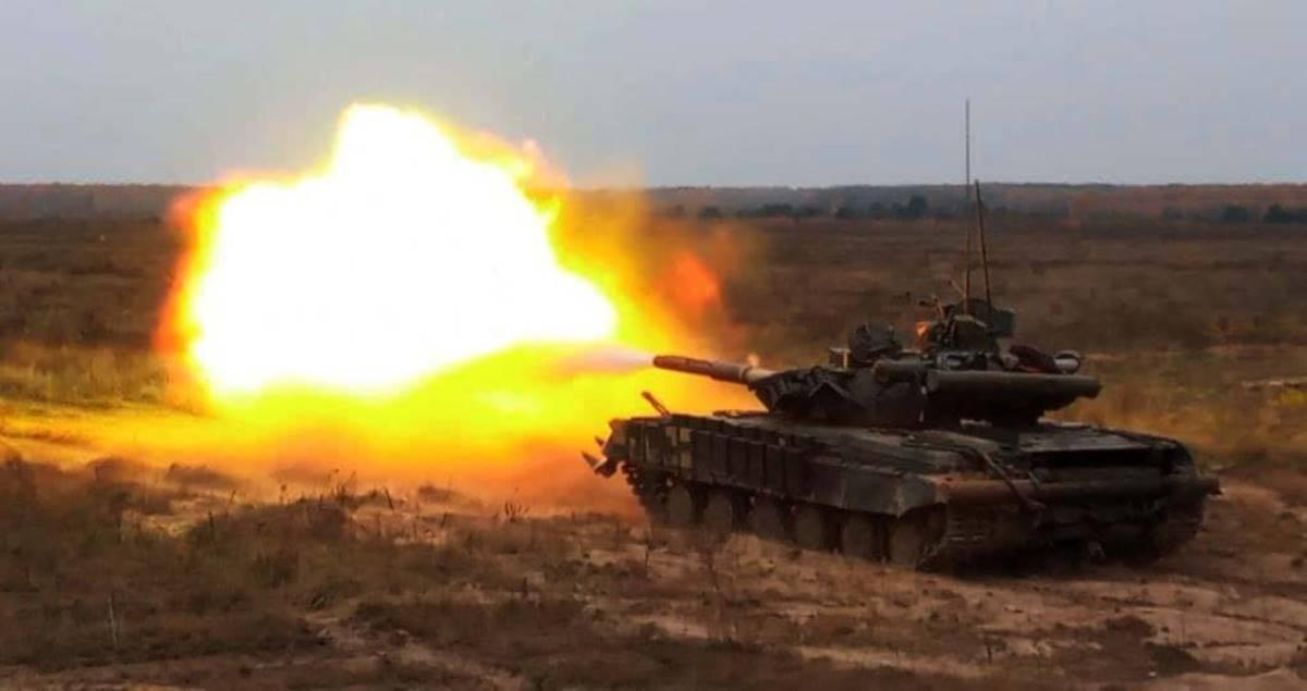 Танкова бригада вчилася завдавати втрат противнику. Танк Т-64БВ ЗСУ. Січень 2021. Фото: 1 ОТБр