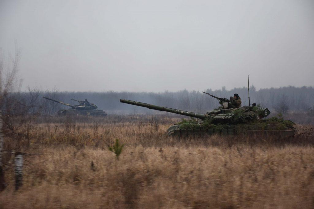 Танки Т-64БВ ЗСУ. Січень 2021. Фото: 1 ОТБр