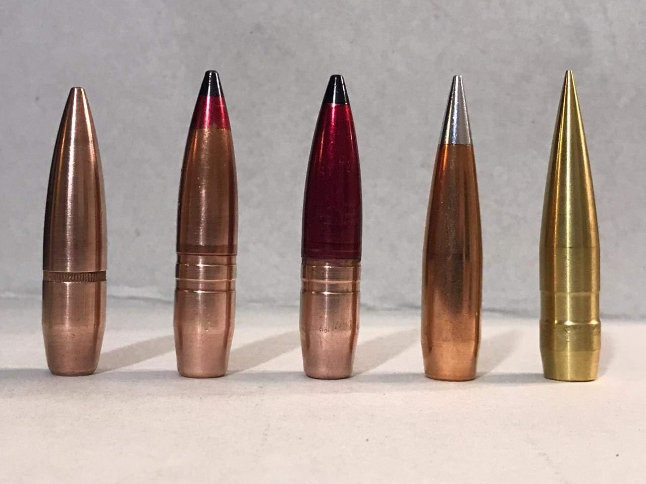 На фото зліва направо: Ball M33, Б32, БС, 750 A-Max, 750 Match Solid