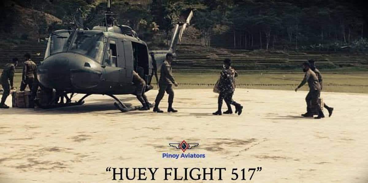 На Філіппінах розбився військовий вертоліт. Фото: Вертоліт Bell UH-1H Huey, № 517