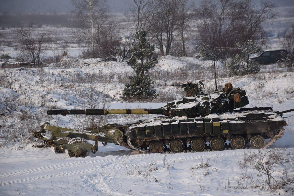 Танк Т-64БВ 1 ОТБр. Січень 2021. Фото: ЗСУ