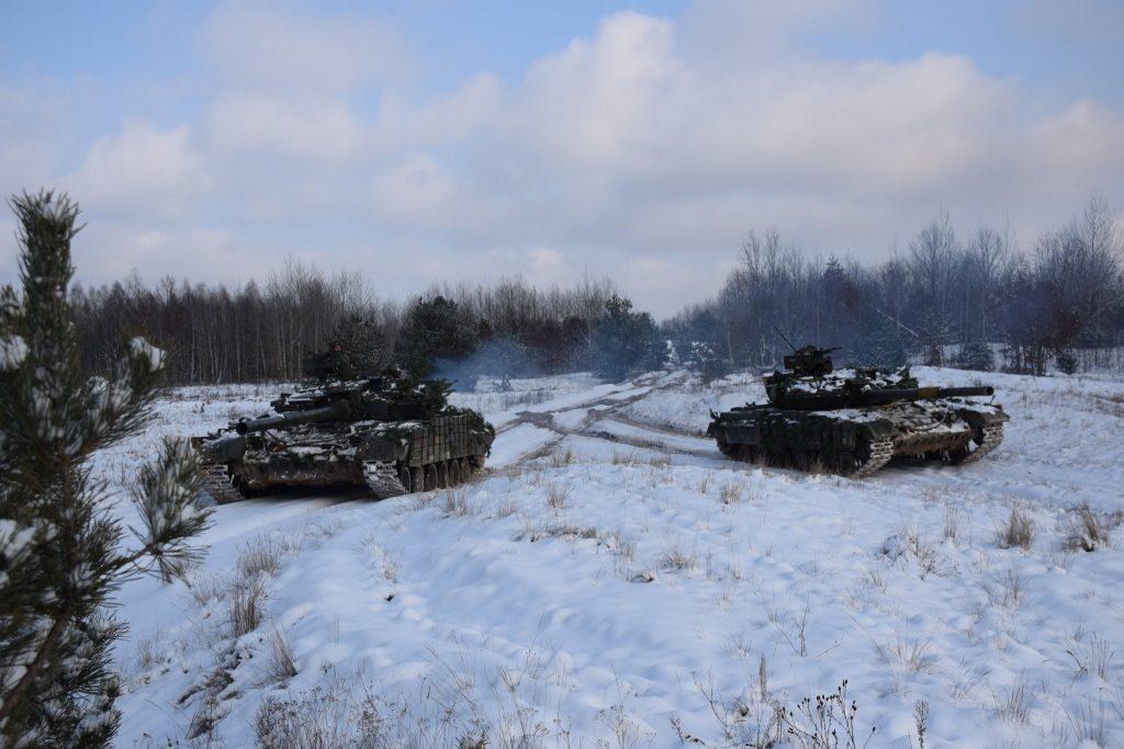 Танки Т-64БВ 1 ОТБр. Січень 2021. Фото: ЗСУ