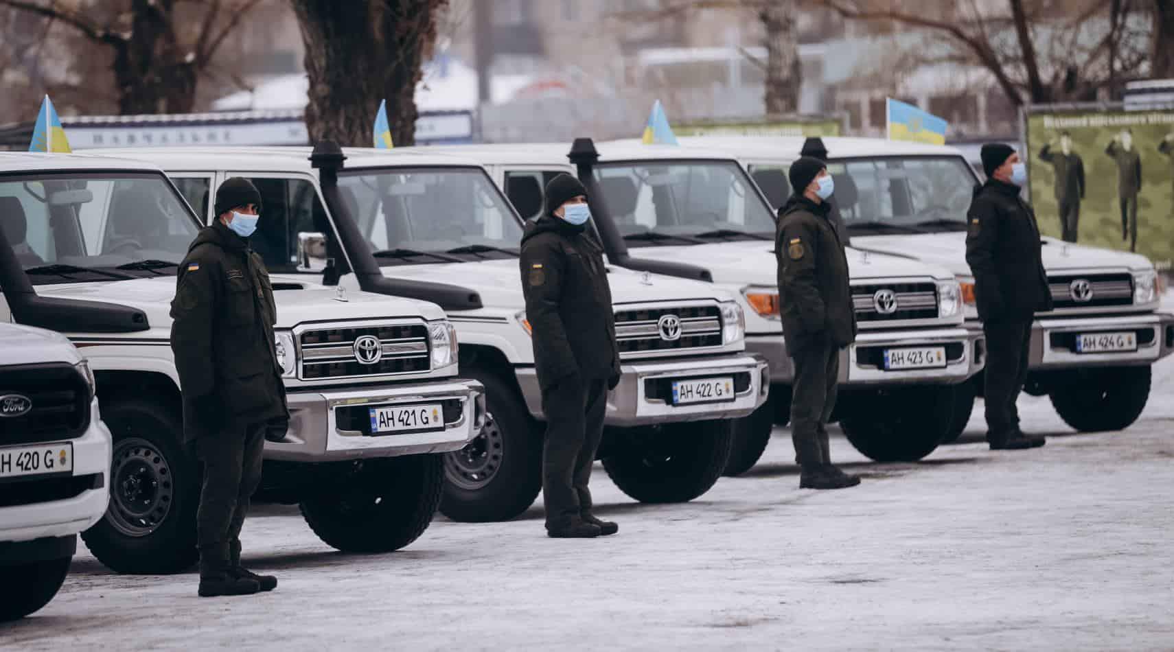 15-й Слов'янський полк Нацгвардії отримав автотехніку. Січень 2021. Фото: НГУ/МВС