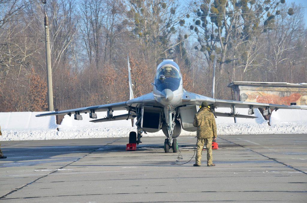Винищувач МіГ-29 114 БрТА. Січень 2021. ПС ЗСУ
