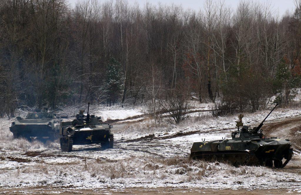 Бронемашини БМД-2 та БМП-2 ДШВ. Січень 2021. Фото: ЗСУ