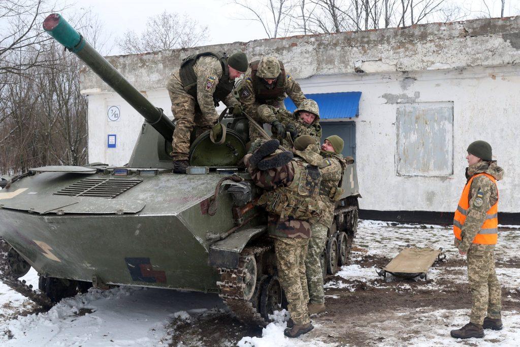 Самохідна артилерійська гармата 2С9 «Нона» ДШВ. Січень 2021. Фото: ЗСУ (У ДШВ оцінюють своїх офіцерів)