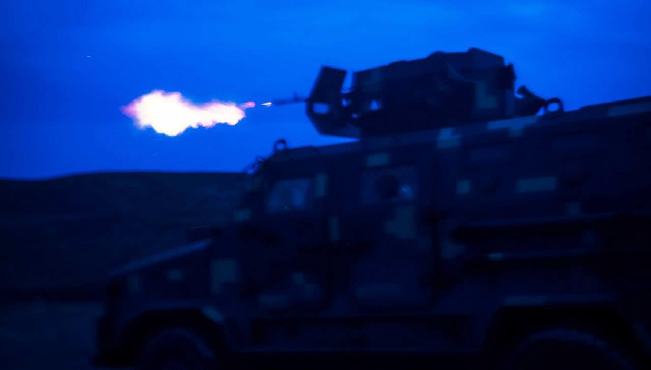 """Бронемашина """"Козак-2"""" на навчаннях Морської піхоти. Січень 2021. Фото: ЗСУ (Морпіхи на Донеччині тренуються воювати вночі)"""