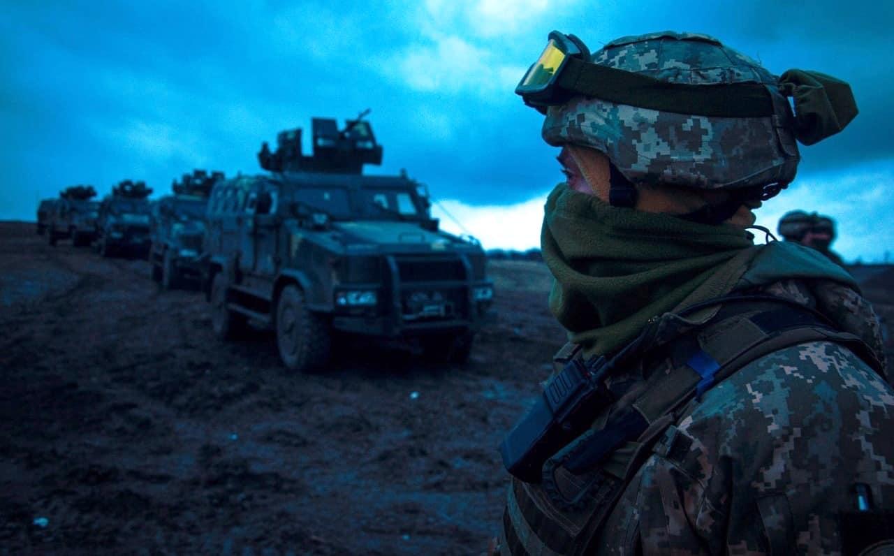 """Бронемашини """"Козак-2"""" на навчаннях Морської піхоти. Січень 2021. Фото: ЗСУ (Морпіхи на Донеччині тренуються воювати вночі)"""