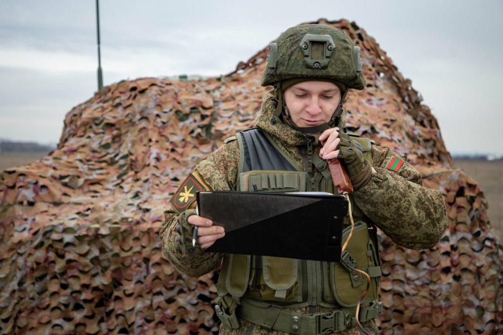 Артилерист так званої «ПМР». Січень 2021. Фото: «МО ПМР» (Незаконні збройні формування Придністров'я)