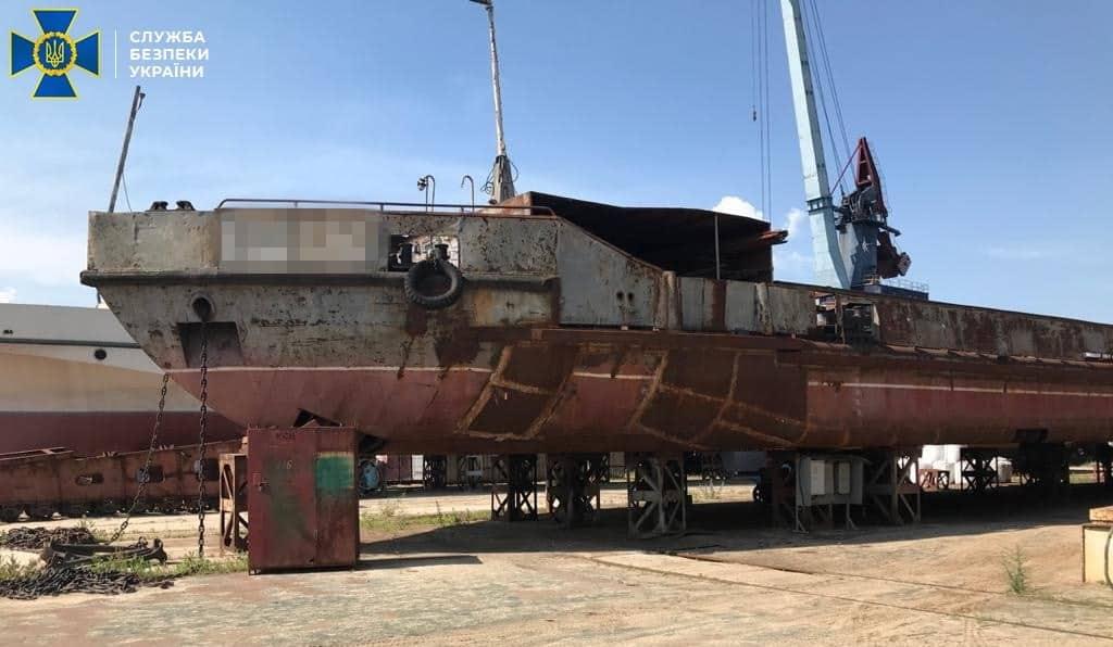Блоковано розкрадання бюджетних коштів під час ремонту судна держустанови «Держгідрографія». Фото з матеріалів СБУ