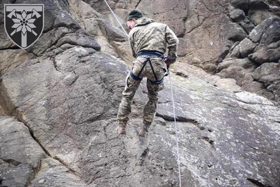 Альпіністська підготовка у 128-й гірсько-штурмовій бригаді ЗСУ