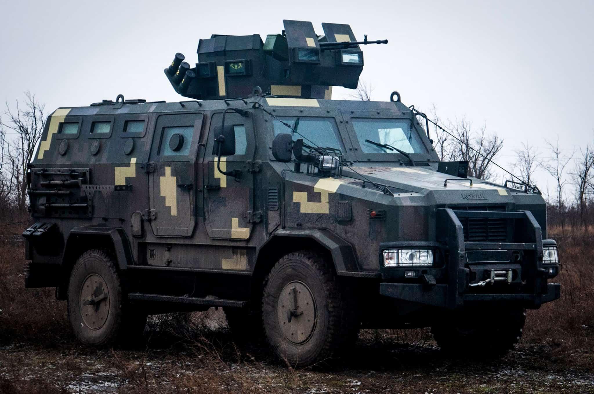 Броньований автомобіль «Козак-2» морських піхотинців