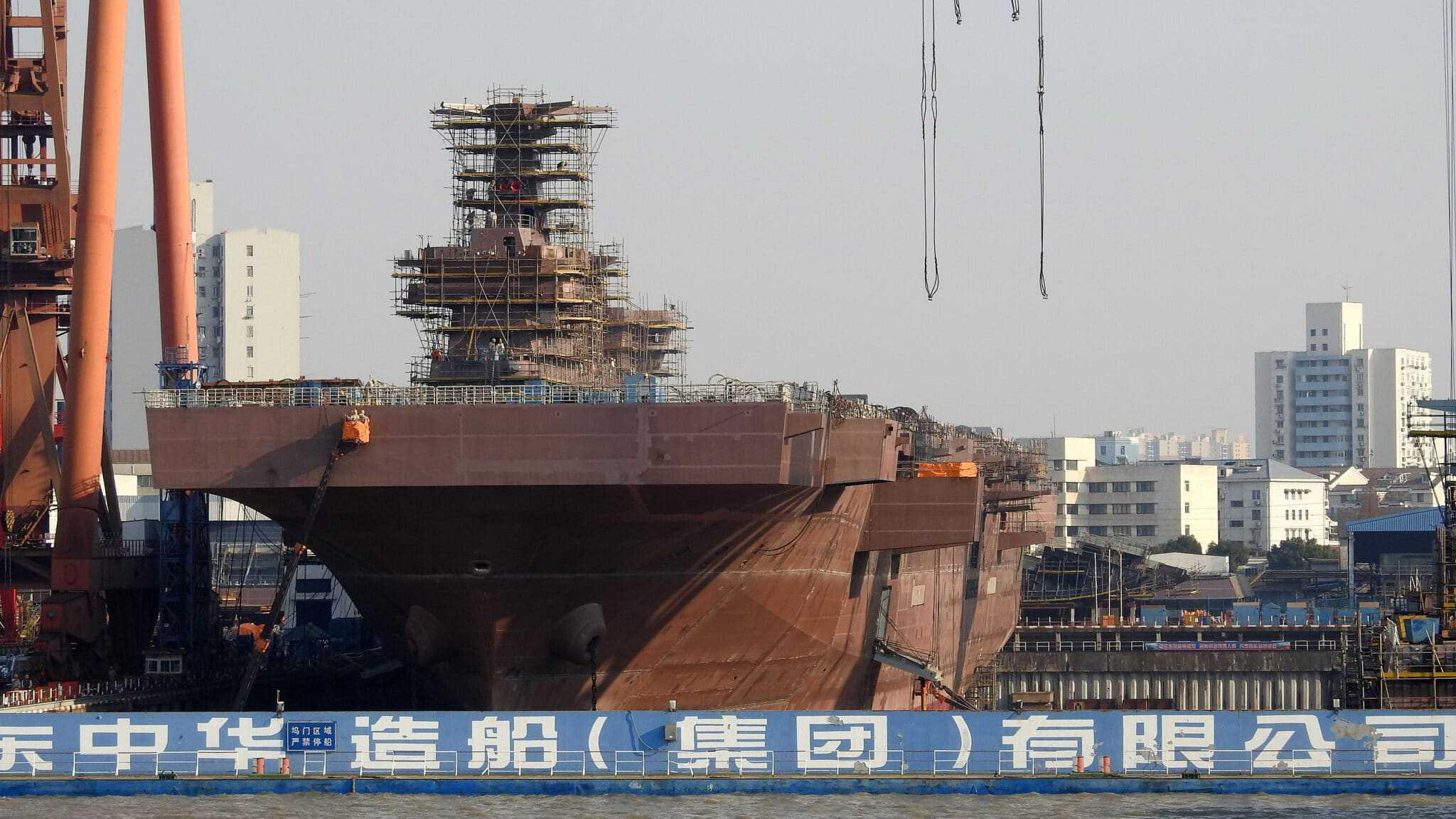 Третій універсальний десантний корабель КНР класу «Type 075». Фото: ЗМІ КНР