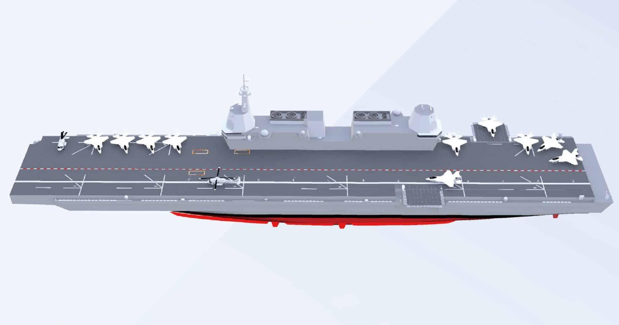Ілюстрація перспективного авіаносця LPX-II Республіки Корея