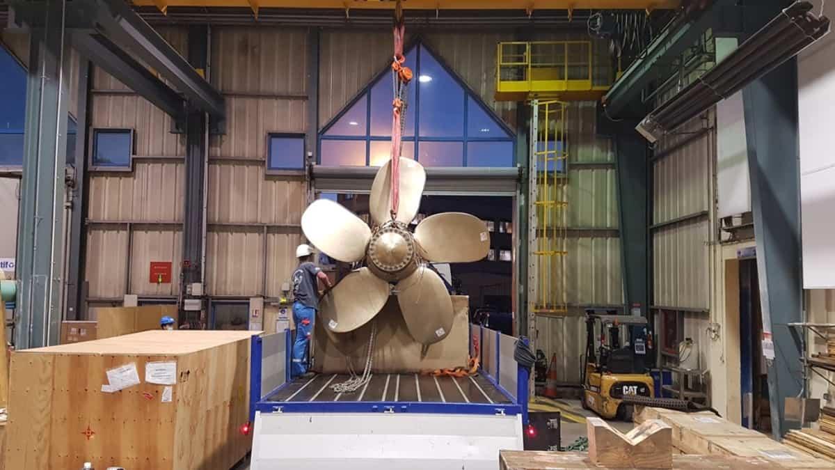 Французький мінний тральщик Andromède отримав надрукованим на 3D-принтері гвинт. Фото: Naval Group