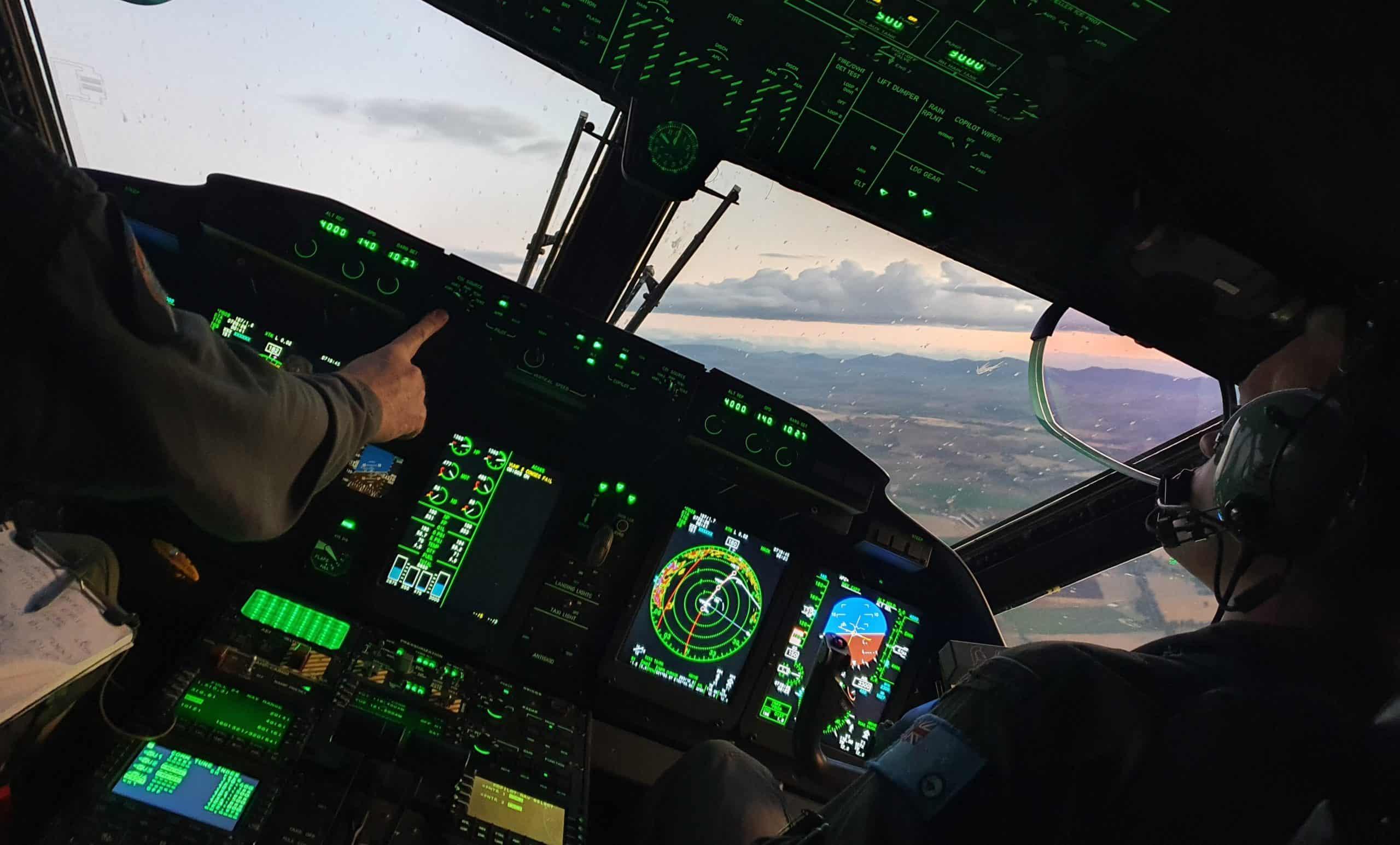 Кабіна пілотів літака C-27J Spartan. Фото з відкритих джерел