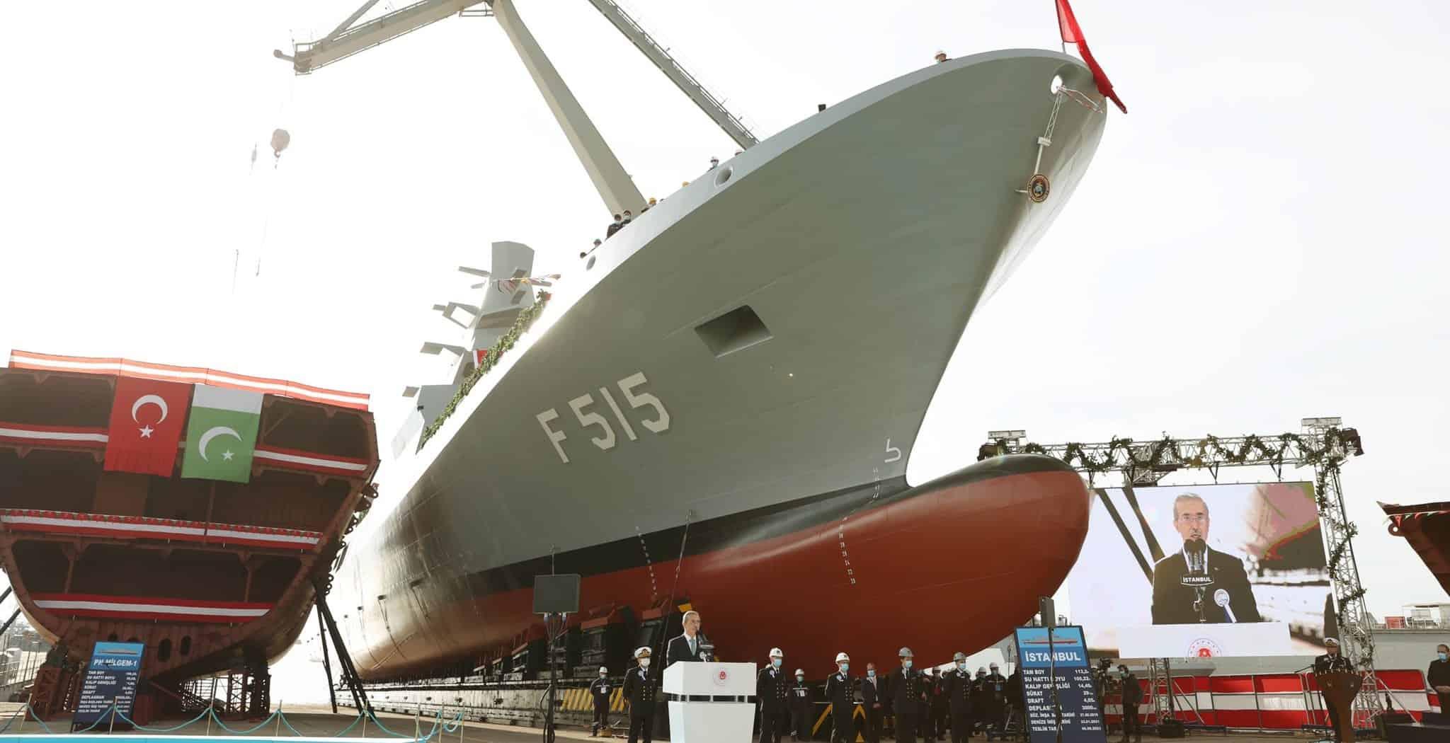 Перший турецький фрегат F515 класу «Istanbul». Січень 2021. Фото: ЗМІ Туреччини