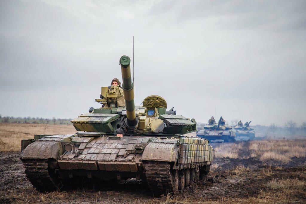 Танки Т-64БВ сил так званої «ПМР». Січень 2021. Фото: «МО ПМР»