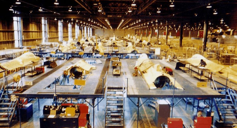 Лінія складання фюзеляжів винищувачів F-16 на підприємстві TAI