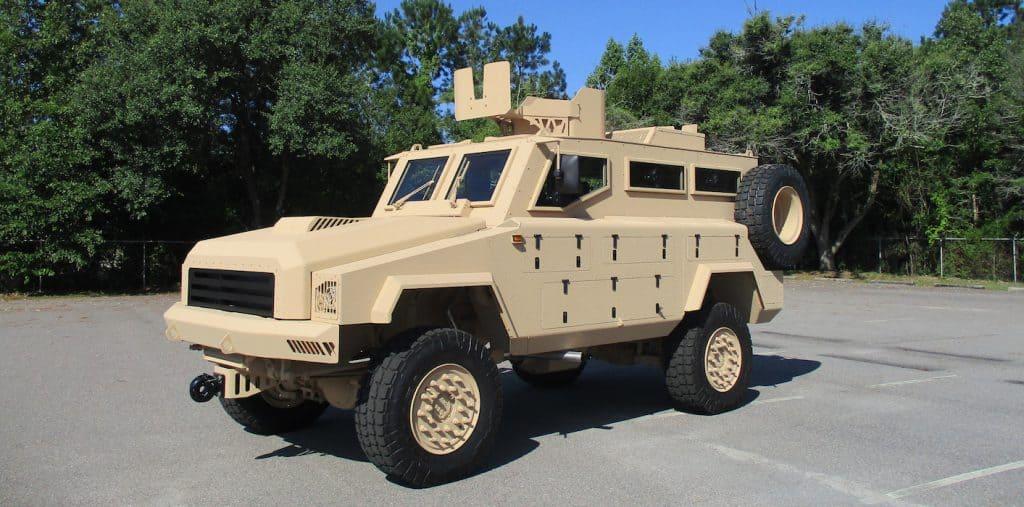 Бронеавтомобіль Mamba Mk7 від компанії Osprea