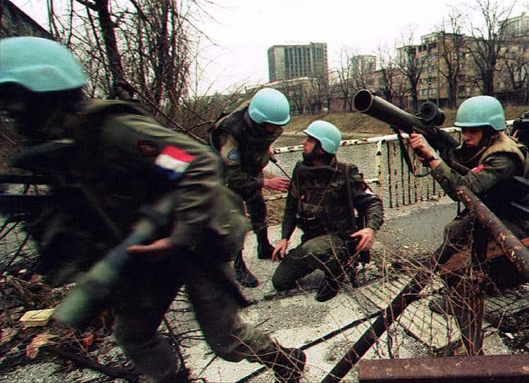 Миротворці ООН під час операції «Обдумана сила»