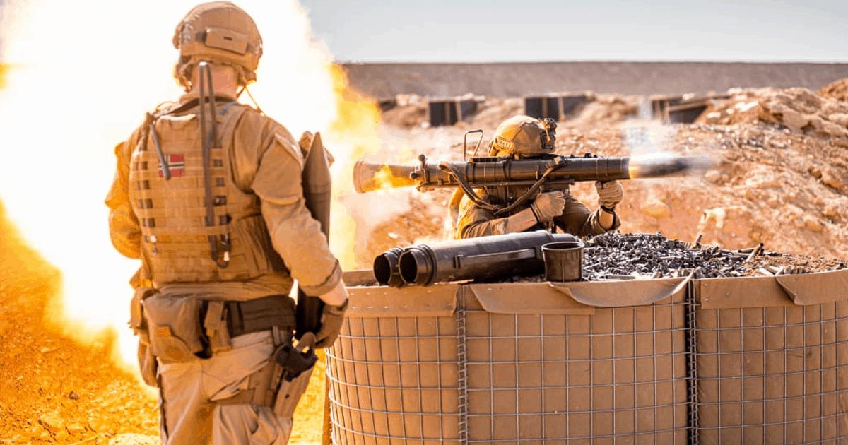 Військові Норвегії з гранатометом «Carl-Gustaf»