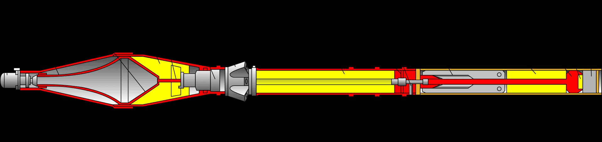 Реактивна граната ПГ-7В у розрізі