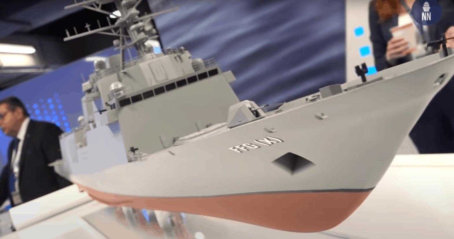 Макет фрегата нового покоління FFG(X)