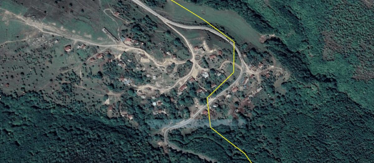 Військові Азербайджану зайняли нову територію. Фото: Село Шурнух та лінія розмежування між Вірменією та Азербайджаном