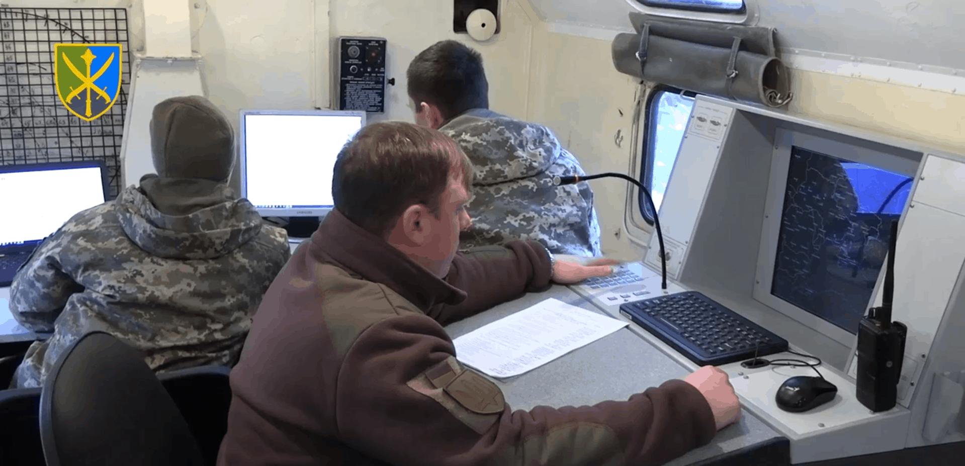 Кадр з відео по тренуваннях Протиповітряної оборони ЗСУ на Херсонщині. Січень 2021