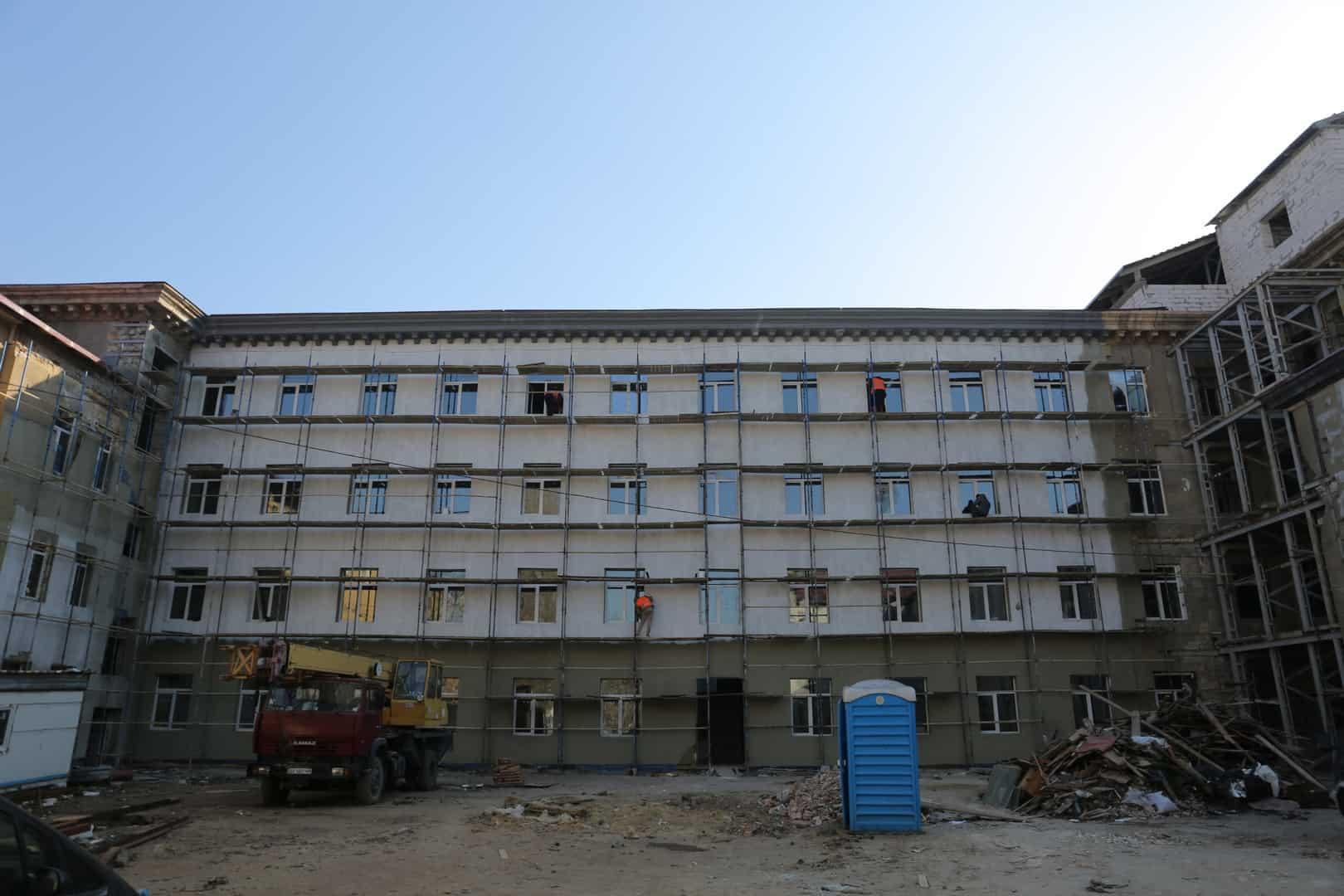 Стан будівництва штабу ВМС ЗС України в Одесі у квітні 2020 року