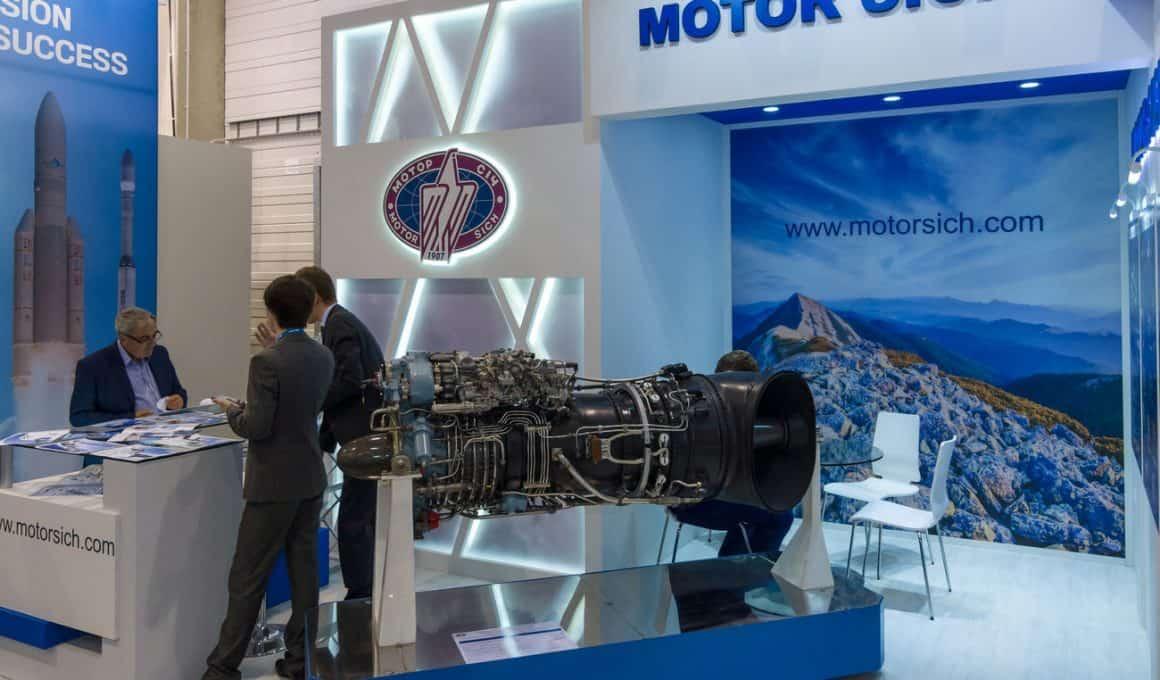 Стенд АТ «Мотор Січ» на міжнародній виставці