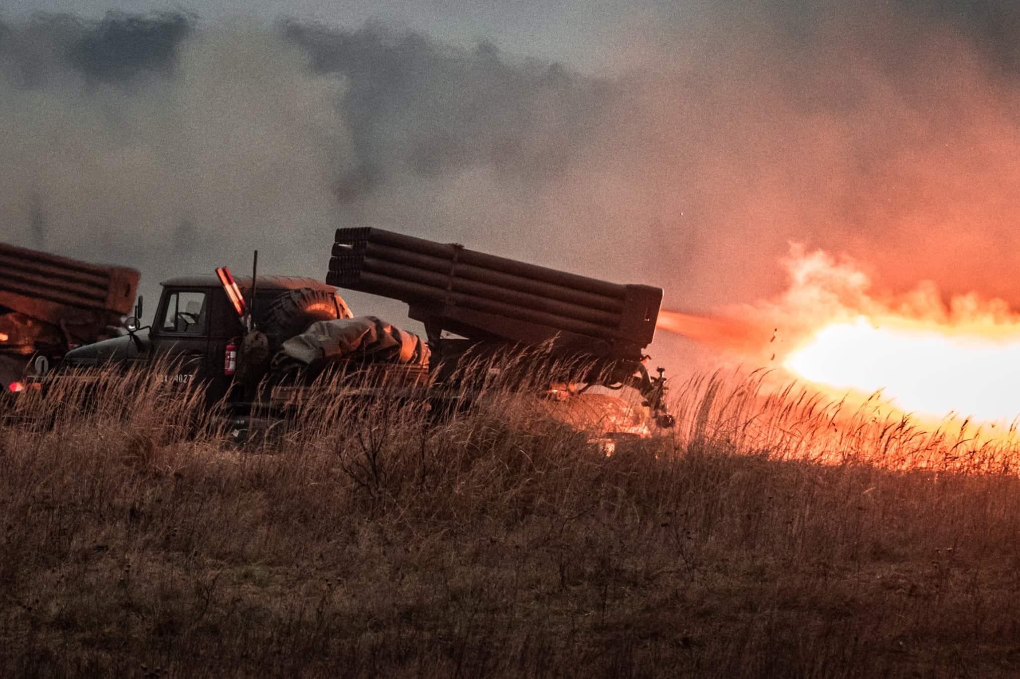 Стрільби з польських РСЗВ БМ-21 «Град»