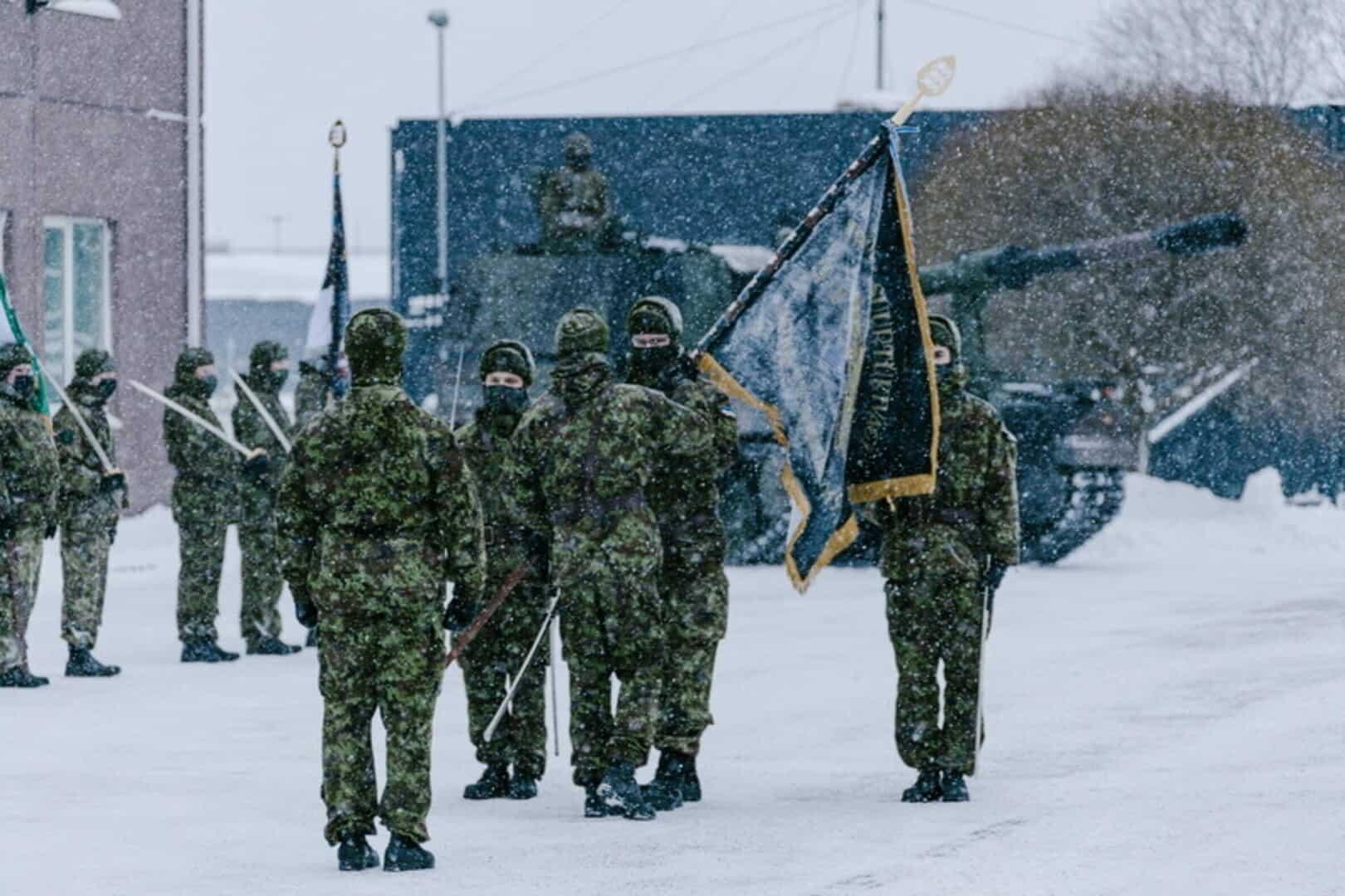 Церемонія освячення прапору артилерійського батальйону першої піхотної бригади Сил оборони Естонії