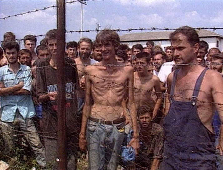 В'язні концентраційного табору у Трнопольї